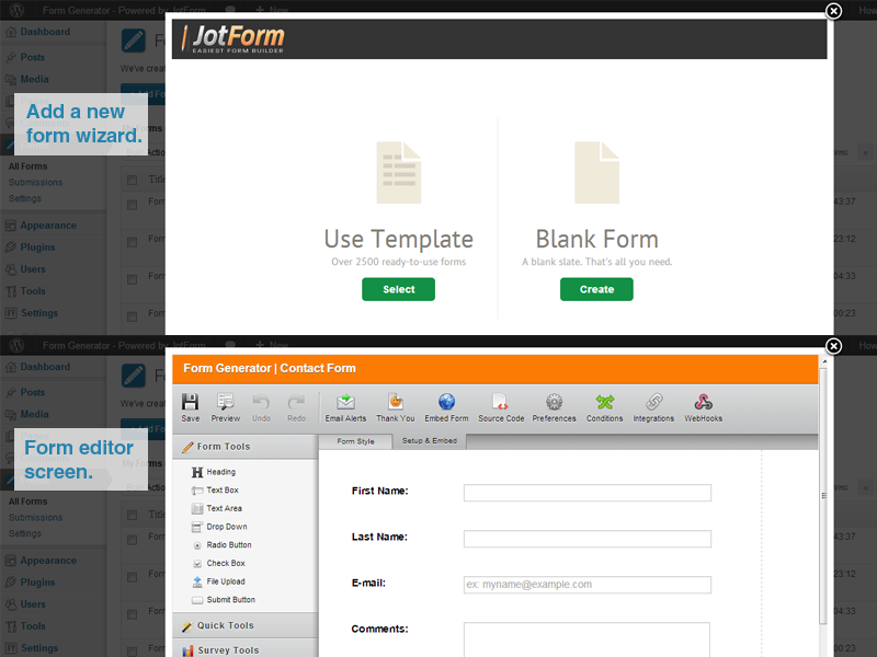 Form Generator for WordPress_4