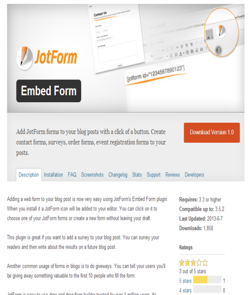Wordpress Embed Form_0