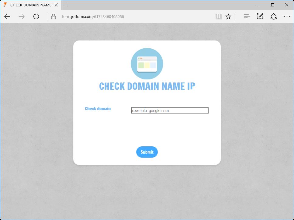 Check Domain Name IP_0