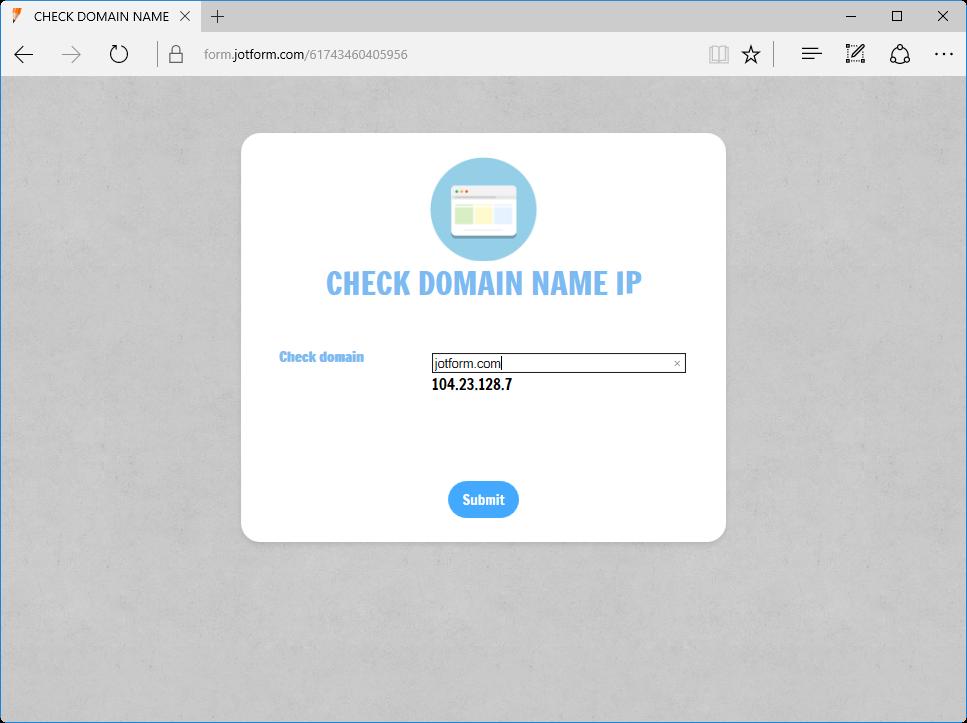 Check Domain Name IP_1